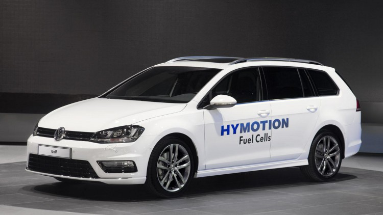 Водородният автомобил на Volkswagen - Golf Variant HyMotion