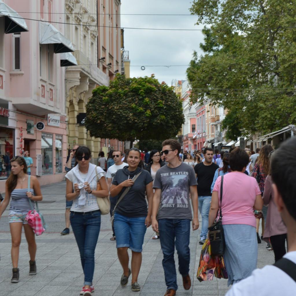 Пловдив Тълпа Хора Главна