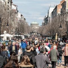 София е единственият град у нас, който отбелязва значителен прираст на населението през последните години