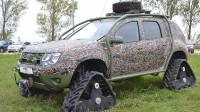 Dacia показа военен Duster на вериги (видео)