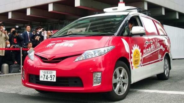 Автономна кола на японската поща