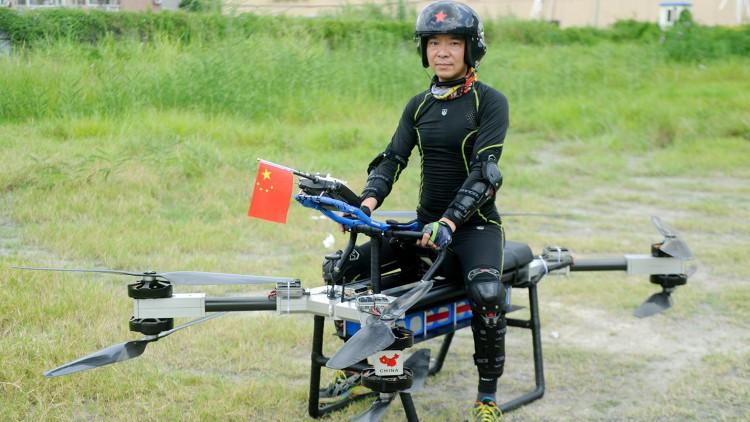 Пилотираният дрон на китаеца