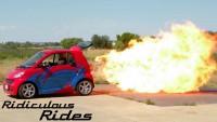 Най-малката кола с реактивен двигател (видео)