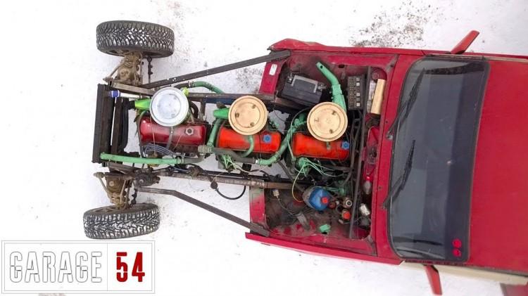 Ладата с 3 двигателя