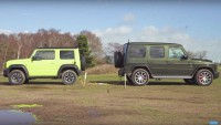 Suzuki Jimny срещу Mercedes-AMG G6 (видео)