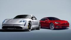 Porsche Taycan срещу Tesla Model S (видео)<br /> 1 снимки