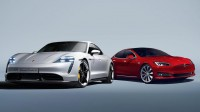 Porsche Taycan срещу Tesla Model S (видео)