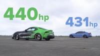 BMW M4 срещу Toyota Supra (видео)