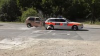 Стар FIAT срещу полицейско BMW (видео)