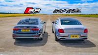 Audi S8 срещу Bentley Flying Spur (видео)