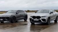 BMW X6 М Competition срещу Lamborghini Urus (видео)