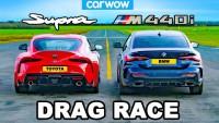 BMW M440i срещу Toyota Supra (видео)