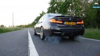 """BMW M5 CS """"изяжда"""" асфалта при ускорение"""